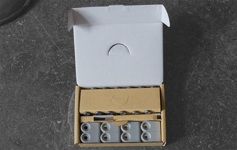 boite d'accessoires pour la pose de la caméra de surveillance Nest cam Outdoor IQ