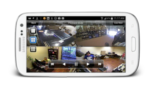 capture d'une application smartphone pour controler une camera de surveillance
