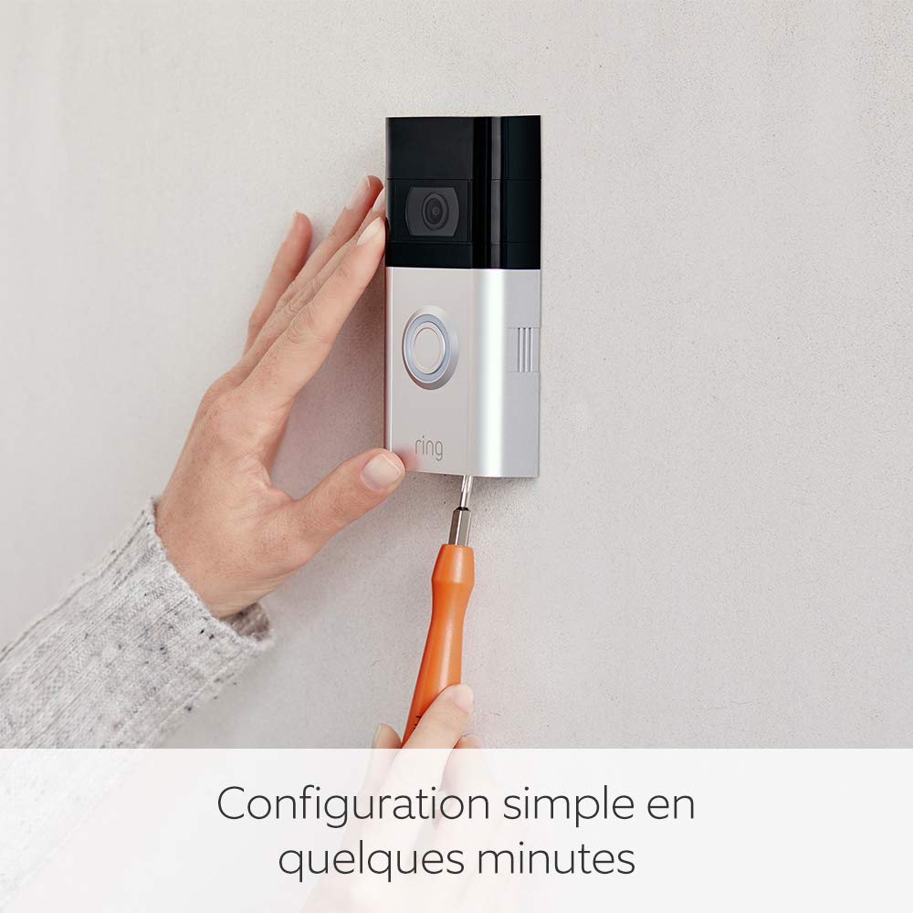 photo de l'installation de la ring video doorbell 3