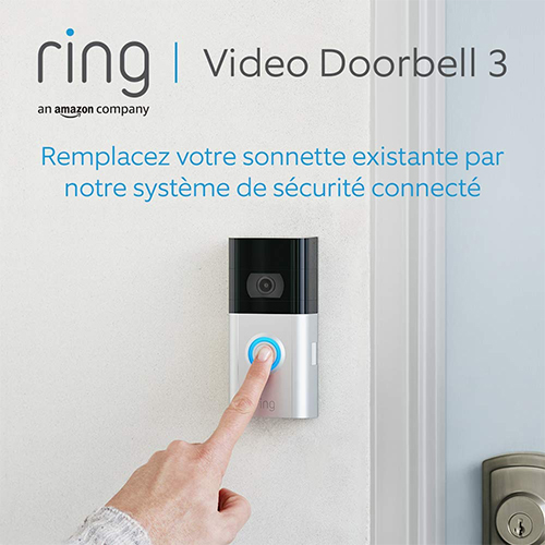 sonnette ring video doorbell 3 installee